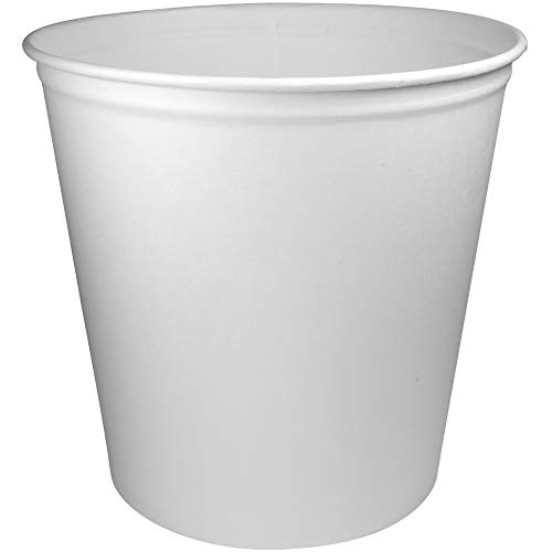- Solo Unprinted Untreated Paper Bucket, 165 Ounce - 100 per case.