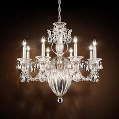 Gold Bagatelle Crystal - Schonbek 1238N-22A Traditional Bagatelle 11-Light Chandelier with Clear Spectra Crystal, Heirloom Gold,