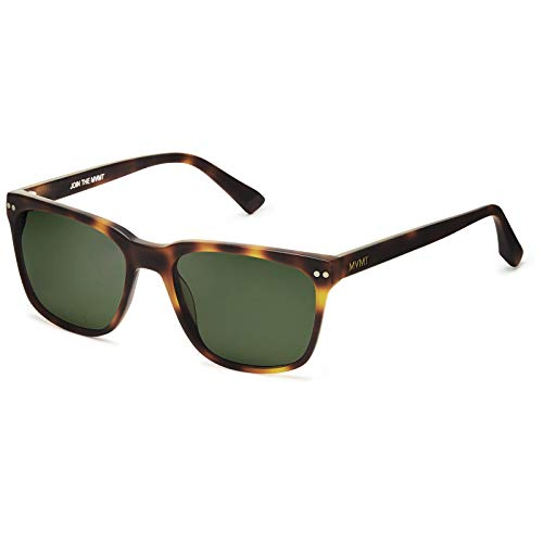 (MVMT Ritual   Polarized Square Men's Sunglasses   Matte Whiskey Tortoise/Dark Green   55 mm)