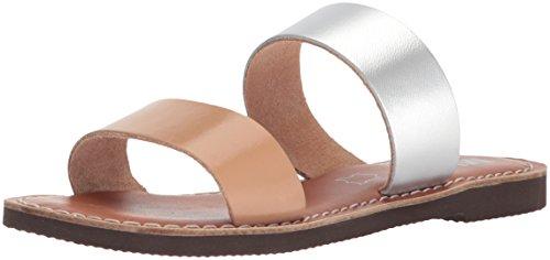 MIA Women's Nila Slide Sandal, Tan/Silver, 8.5 M US