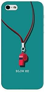 Stylizedd Premium Slim Snap Case Cover Matte Finish for Apple iPhone SE / 5 / 5S - Blow Me