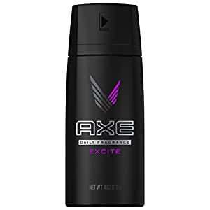 AXE Body Spray for Men, Excite 4 oz (Pack of 3)