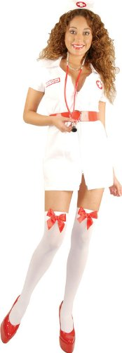Charades Costumes - Double Zip Nurse Adult Costume - -