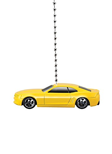 MAISTO Chevy Camaro Diecast Car Ceiling Fan Light Pull & Ornament 1/64 Scale (2006 Yellow Camaro Concept) ()