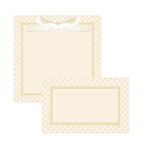 (Amscan Party Perfect Square Ivory Dots Printable Wedding Invitations Kit (100 Piece), 5