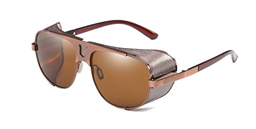 inspirées en métallique style du retro Lennon rond cercle Complète Tranche vintage de soleil polarisées Thé de lunettes fgqxBRwR