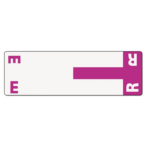 (Smead Alpha-Z Color-Coded First Letter Name Labels, E & R, Purple, 100/Pack)