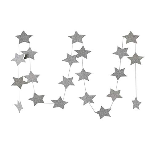 VDV Artificial Flowers Fashion Wall Hanging Paper Star Garlands 2m Long Birthday String Chain Wedding Party Banner Handmade Children Room Home Decor Daisy Artificial Flowers-S08