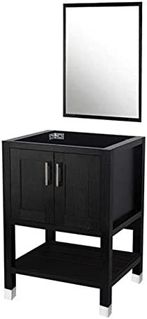 DOIT 24 inch Wood Bathroom Cabinet with Bathroom Vanity Mirror No Sink Modern Bathroom Vanity,Bathroom Vanity 24 inch, Espresso Wood Vanity Units Free-Stand Vanity Set NO Sink,NO TOP
