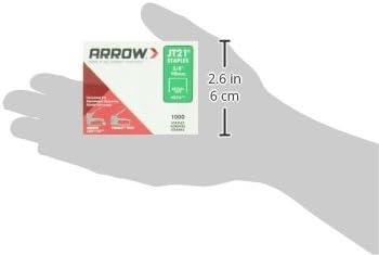 2 Pack 1,000 Arrow Fastener 276 Genuine JT21//T27 3//8-Inch Staples