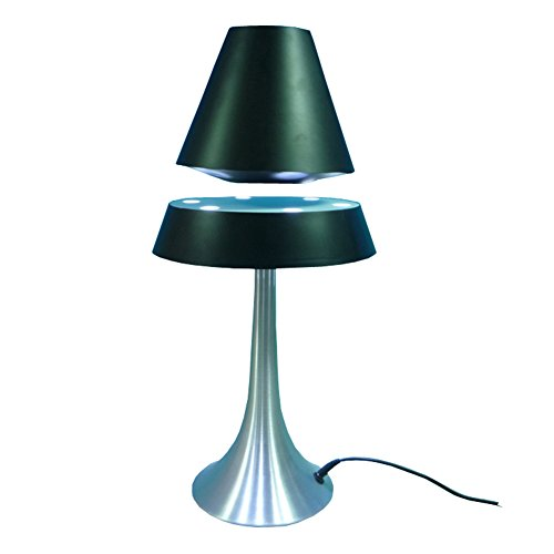 Lamp Magic Spinning (Magnetic Floating Spinning LED Lights Table Desk Lamp Night Lighting Home Office Decoration Black Lampshade with Aluminum Base)