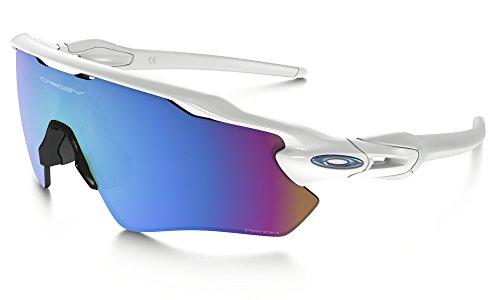 (Oakley Radar EV Path Sunglasses Polished White/Prizm Snow & Care Kit Bundle)