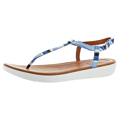 FitFlop Women's Casual Tia T-Strap Sandals Blue Size 10