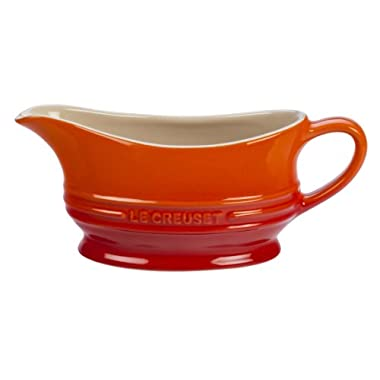 Le Creuset Stoneware 12-Ounce Gravy Boat, Flame