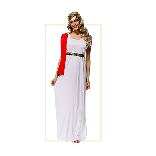 G3 Glorious Greek Goddess Sexy Long Gown Athenian Costume Kids & Adult (One Size) …