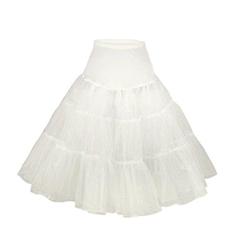 Phoenix® enagua de la boda accesorios enagua tutú de la boda Enaguas Falda paseo Tutú 50s enagua rockabilly retro pivotar enagua de la vendimia falda neta de lujo enagua Gris
