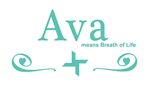 BellaCross Ava Girls Name Wall Decal is a Premium Vinyl Wall Decal Displaying The Meaning of The Name Ava which Means Breath of Life. - Mint