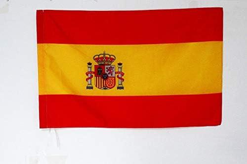 AZ FLAG Bandera Nacional DE Carrera ESPAÑA 90x60cm para Palo ...