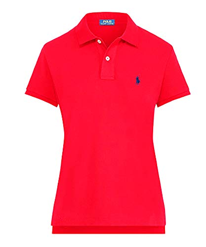 Polo Ralph Lauren Women's Classic Fit Mesh Polo Shirt (Large, American Rose) ()
