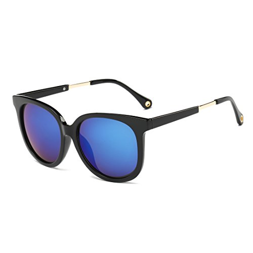 Classic Wayfarer Flash Mirrored Lenses Sunglasses for Men and Women - Kourtney Sunglasses