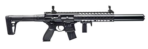 Sig Sauer MCX .177 Cal Co2 Powered (30 Rounds) Air Rifle, Black (Gas Powered Sniper Rifle Airsoft)