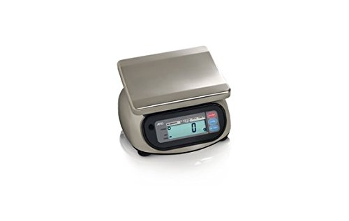 A&D Engineering SK-5000WP Stainless Steel Washdown Scale, NTEP Approved, 5,000g Capacity, 2.0g Increments by A&D Engineering