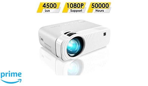 garsent Proyector LED, 1500 lúmenes Portable 1080P Full HD LED ...