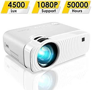 garsent Proyector LED, 1500 lúmenes Portable 1080P Full HD LED ...
