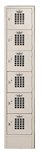 Winholt WL-66/15 6 Door Locker with One Column, Multi-Tier, 12