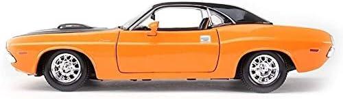 Zhangl 車のモデルカー1時24分シミュレーション合金ダイカスト1970スポーツカーのおもちゃの宝石セットのジュエリー20x9x5.1CMカーモデルナイトライダーダイキャストモデルチャレンジャー
