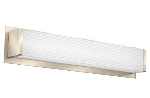 Wood Sconce Standard (Lithonia Lighting Traditional Square 3K LED Vanity Light, 2-Foot, Brushed Nickel)