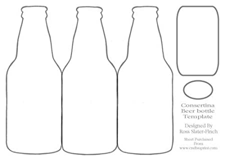 Beer Bottle Consertina Template by Ross Slater-Finch: Amazon.co.uk ...