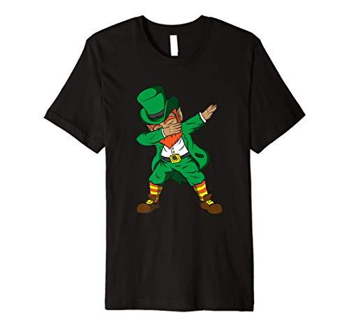 Funny Dabbing Leprechaun Kids Boy Girl St Patricks Day Shirt