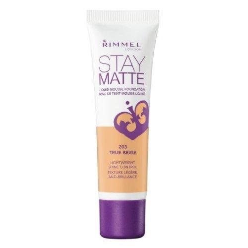 南極レルム先行する(3 Pack) RIMMEL LONDON Stay Matte Liquid Mousse Foundation - True Beige (並行輸入品)