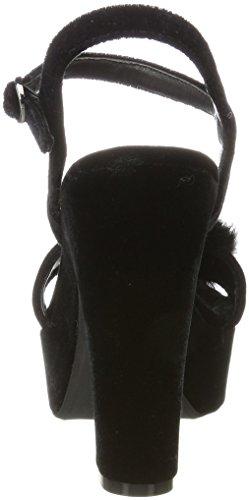 con Plana Negro Alma Mujer Plataforma Pena para I17040 Sandalias Black EN TnHq6f