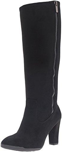 Anne Klein Women's Elek Suede Winter Boot, Black, Size 5.5