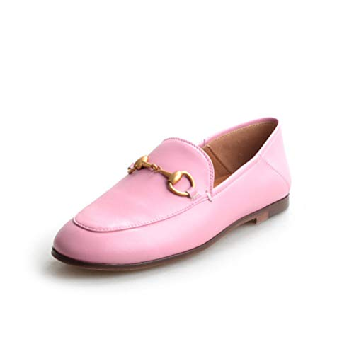 c5b5dd84dd81 XDH-RTS Fashion Flat Driving Shoes Woman Genuine Leather Loafers Metal  Decoration Concise Working Shoes Slip On Footwears Pink
