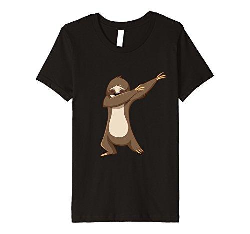 Costumes For Kids Dance Hip Hop (Kids Sloth Shirt Costume Dabbing Dab Dance Hip Hop Kids Halloween 12 Black)
