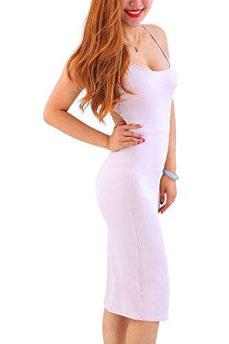 Front Large Zipper YMING Beige04 Sleeveless Hot Club s Women Dress Stretch Bodycon WPPA1q6Tnw
