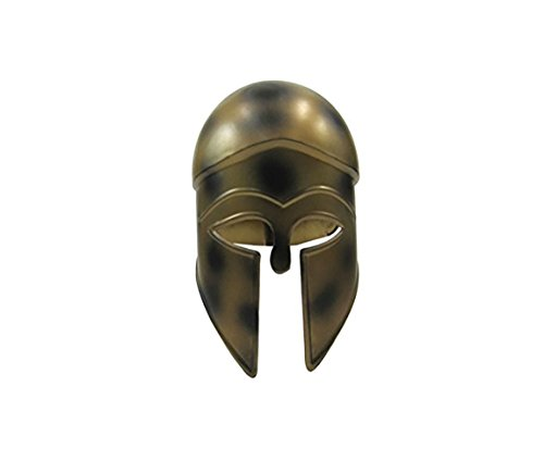 [Corinthian Helmet W/ Antiqued Copper Look - Steel - Wearable Costume] (Larp Costumes Uk)