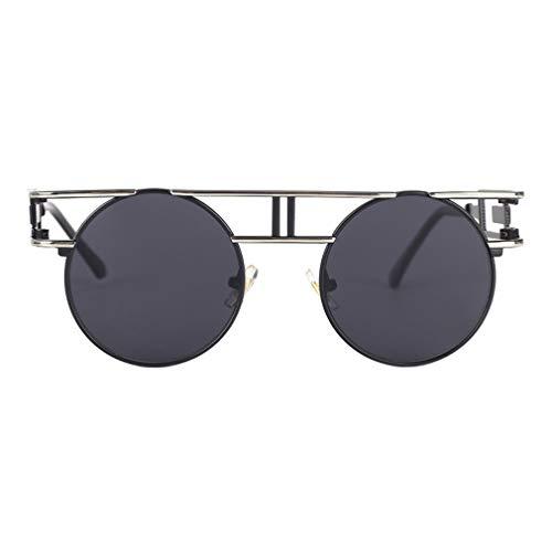 Femmes Noir Lens Metal Lunettes Frame Cadre Steampunk De Clear Jixuan New Argent Gothique gris Hommes Unique Soleil 8w61qn5vB