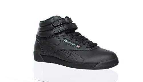 Reebok Womens Freestyle Hi Black Fashion Sneaker Size 4.5 ()