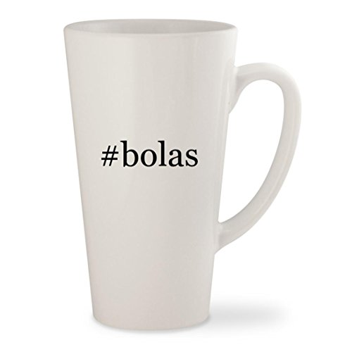 #bolas - White Hashtag 17oz Ceramic Latte Mug Cup (Mc Bola)