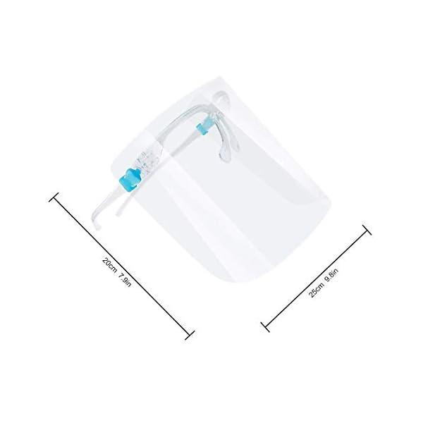 Protector facial de seguridad, paquete de 5 gafas reutilizables, visera transparente antivaho para proteger los ojos de las salpicaduras 10
