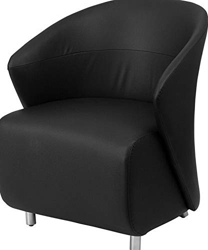 Campton Lounge Chair Lobby Reception Waiting Room Chairs in Black LeatherSoft | Model LNGCHR - 236 ()