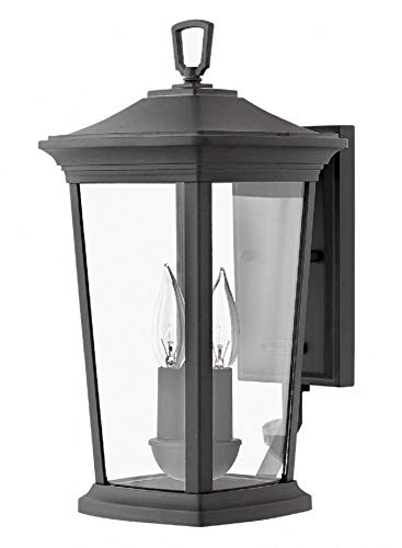 Hinkley 2360MB Bromley Outdoor Wall Sconce, 2-Light 120 Total Watts, Museum Black