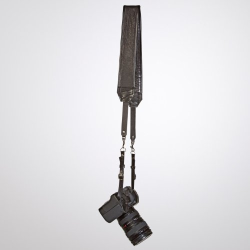 Heavy Leather NYC Classic Leather Camera Strap, Black