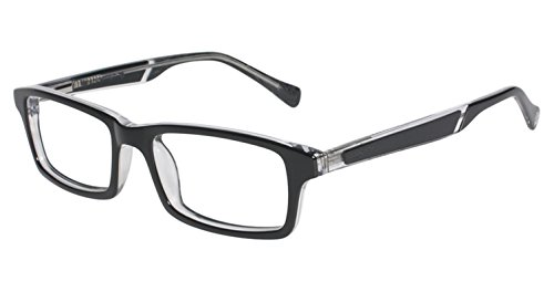 LUCKY BRAND Eyeglasses DOUBLE STITCH Black 46MM