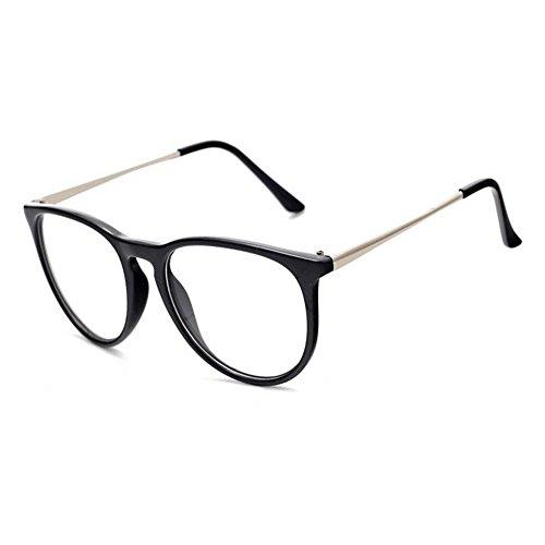 Sobredimensionado Retro Mujer Gafas UV400 Lente Gafas Marco Deylaying Negro Redondo Brillante Transparente Hombre x0qBwtg