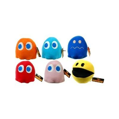 """Pac-Man 8"""" Plush Video Edition Set Of 6: Toys & Games"""